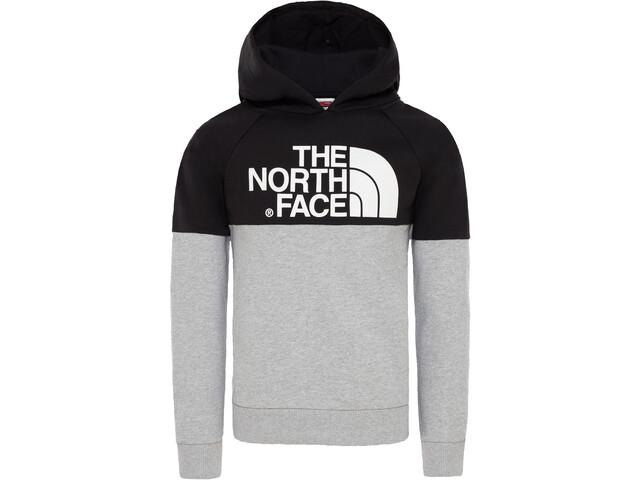 098ef9cf9 The North Face Drew Peak Raglan Pullover Hoodie Boys tnf light grey  heather/tnf black